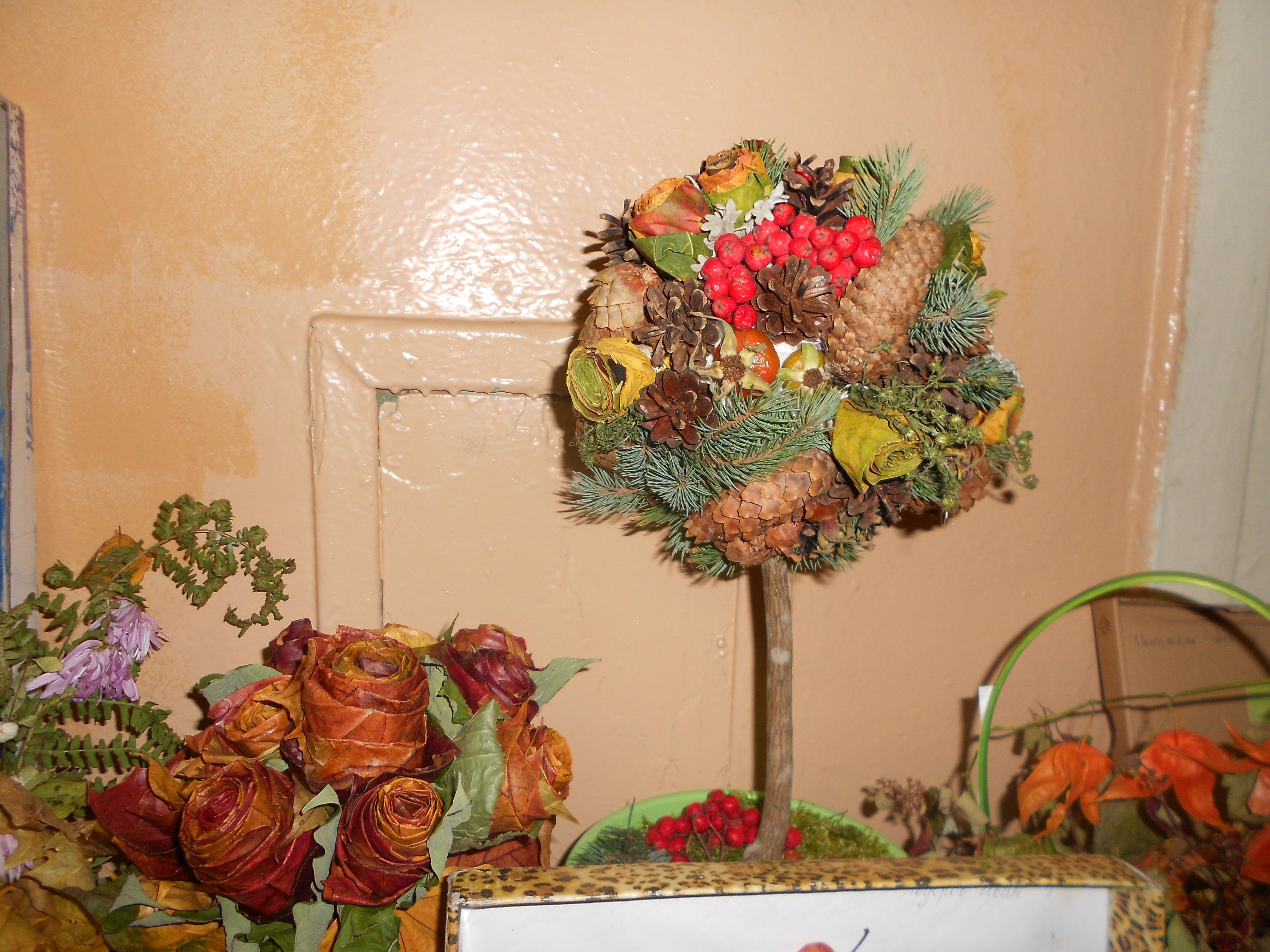 Поделка из природных материалов на тему осень фото